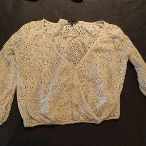 Crop lace top